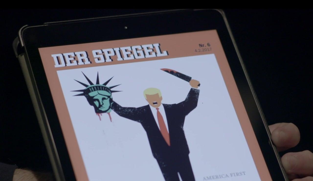 Donald Trump en una viñeta