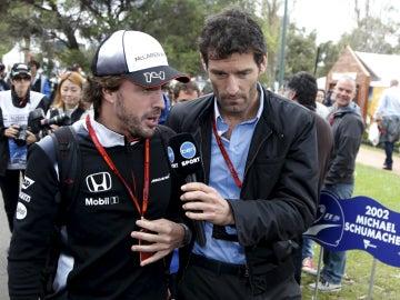 Alonso, con Webber
