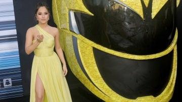 La actriz Becky G durante el estreno de la película 'Power Rangers' en Westwood, California