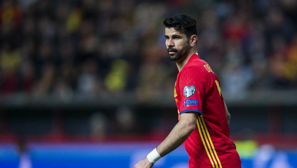 Diego Costa, con España