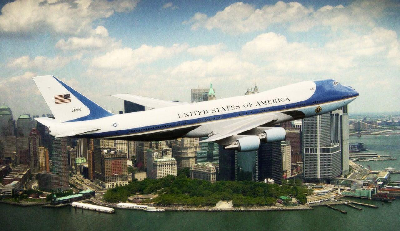 El Air Force One sobrevuela Nueva York en 2009