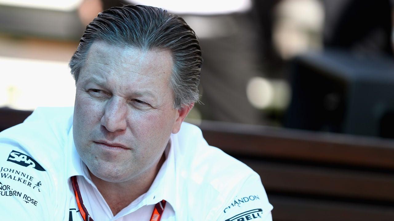 Zak Brown, durante el GP de Australia