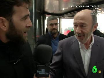 Alfredo Pérez Rubalcaba con Gonzo
