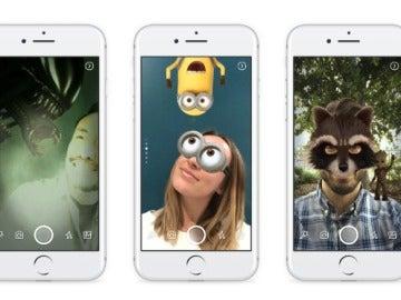 Filtros tipo Snapchat en Facebook Stories