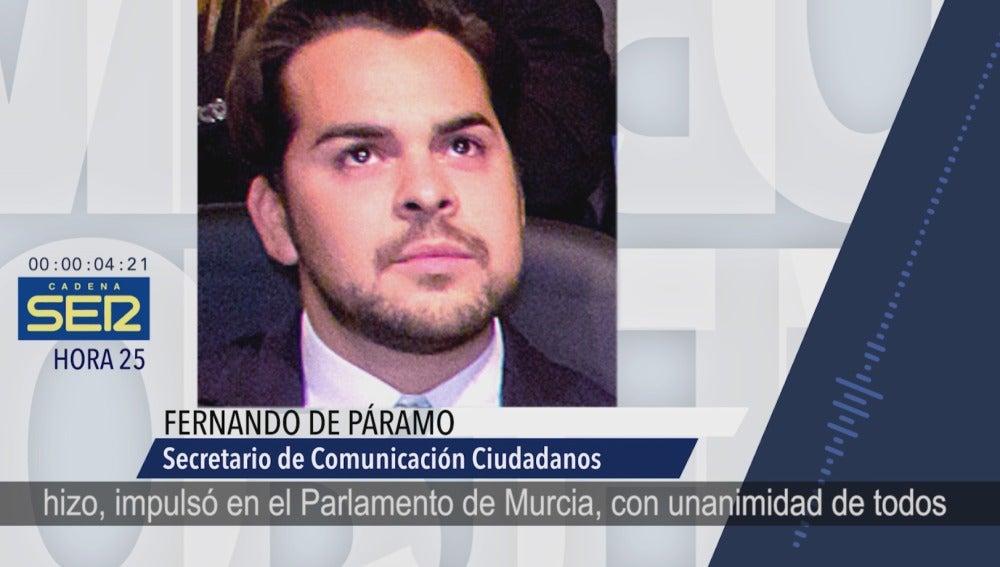 El secretario de Comunicación de Ciudadanos, Fernando de Páramo.