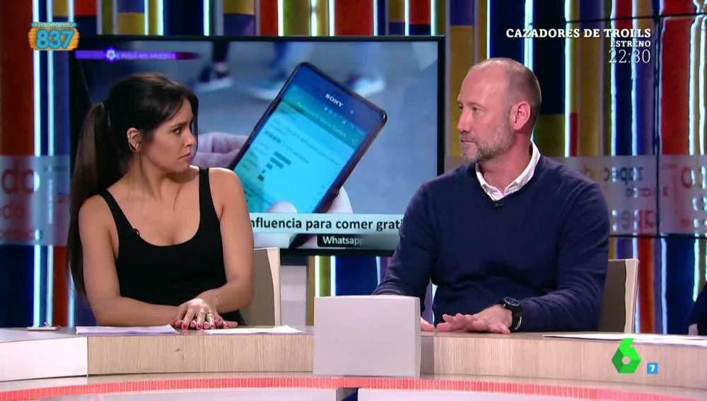 Cristina Pedroche y Pedro García Aguado, en Zapeando