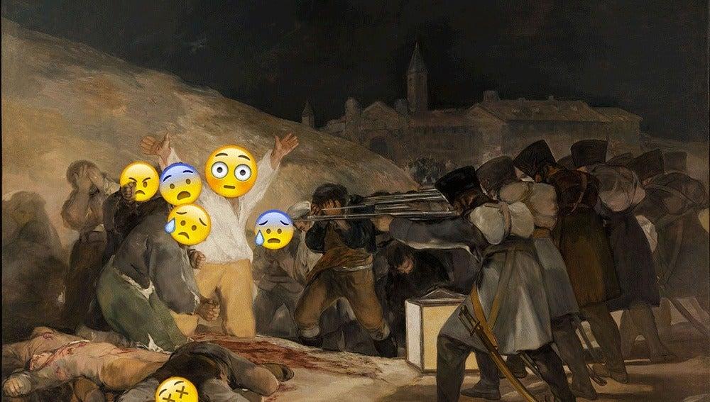 El famoso cuadro de Goya tuneado con emoticonos
