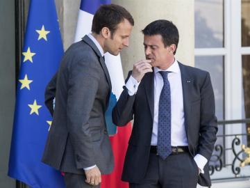Manuel Valls y Emmanuel Macron