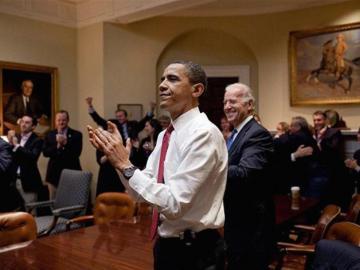 Celebrando la aprobación del ObamaCare