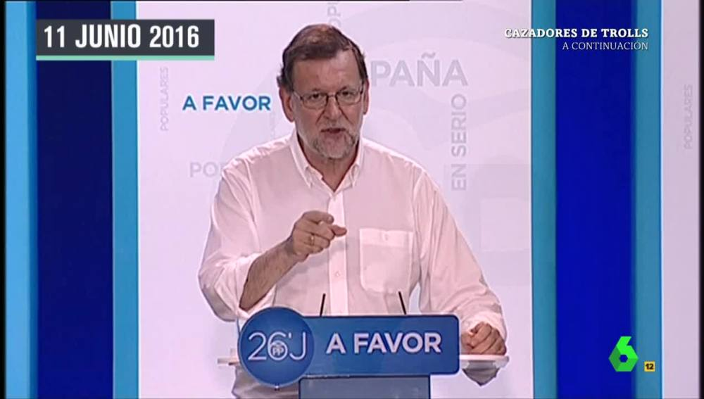 Mariano Rajoy 'maldice' a Pedro Antonio Sánchez