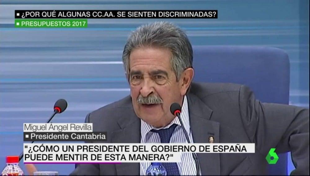 Miguel Ángel Revilla, presidente de Cantabria
