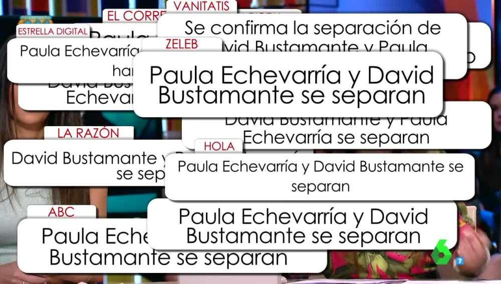 Paula Echevarría y David Bustamante se separan