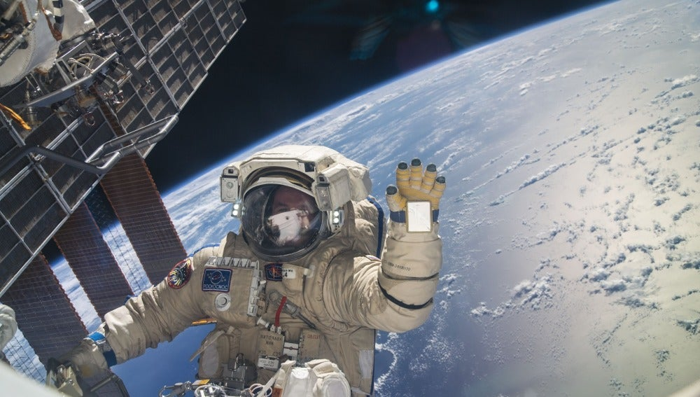 Un astronauta desde la ISS