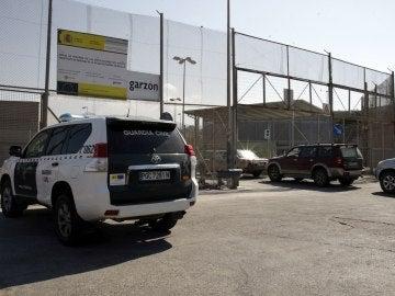 Vista del paso fronterizo de Farhana, el segundo en importancia entre la ciudad autónoma y Marruecos