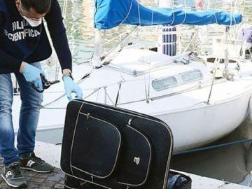La maleta donde se encontraba el cadáver