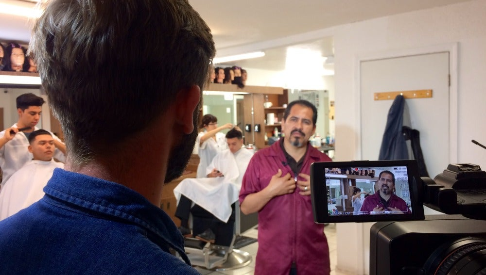 Antonio, peluquero en EEUU