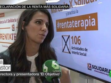 """Ana Pastor sobre la 'X' solidaria: """"Es parte de nuestra renta que va a gente que todavía está fuera del sistema y que necesita nuestra ayuda"""""""