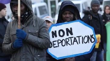 Protesta contra las deportaciones de inmigrantes