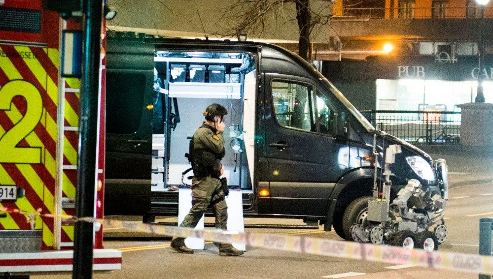 La Policía noruega explosiona de forma controlada un objeto parecido a una bomba