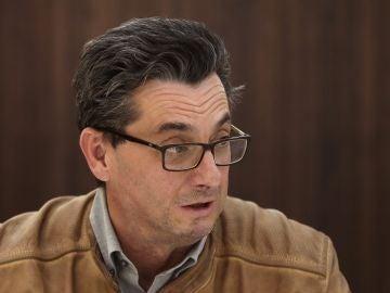 El secretario general del PCE, José Luis Centella, en un desayuno informativo