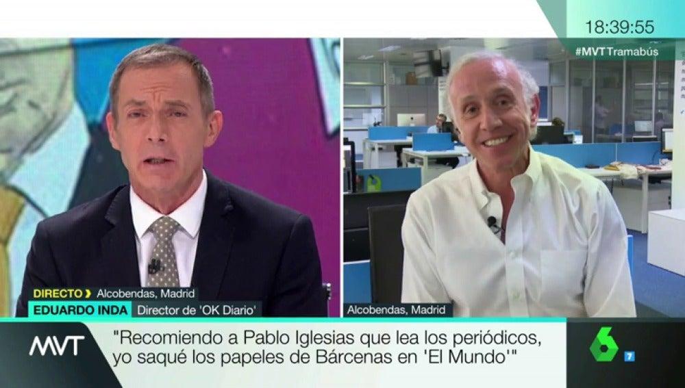 """Frame 1.240943 de:  Inda, sobre el 'tramabús' de Podemos: """"Metería a Iglesias, que se financia a través de Venezuela e Irán y tiene cuentas en paraísos fiscales"""""""