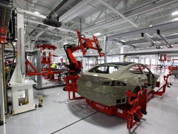 Producción de coches de Tesla
