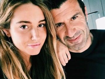 Luis Figo celebrando el cumpleaños de su hija
