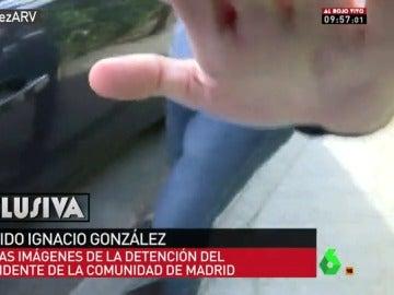 Momento de la detención de Ignacio González