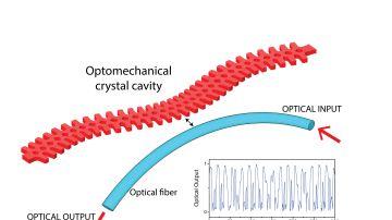 Codificacion de datos mediante cristales optomecanicos y caos