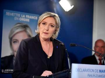 La candidata ultraderechista a la Presidencia de Francia, Marine Le Pen
