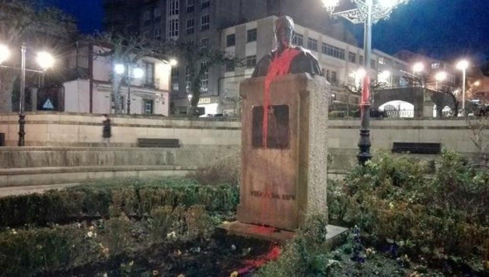 La escultura de Fraga en un ataque anterior