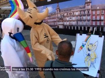 Curro y Cobi tratan de sobrevivir tras la España de 1992