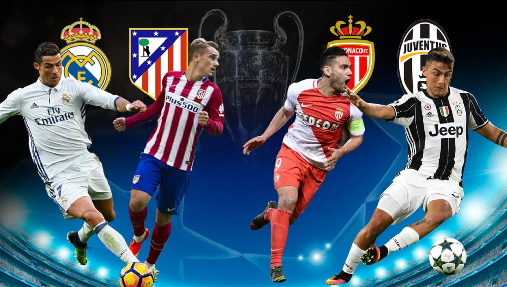 Real Madrid - Atlético y Mónaco - Juventus, las semifinales de Champions