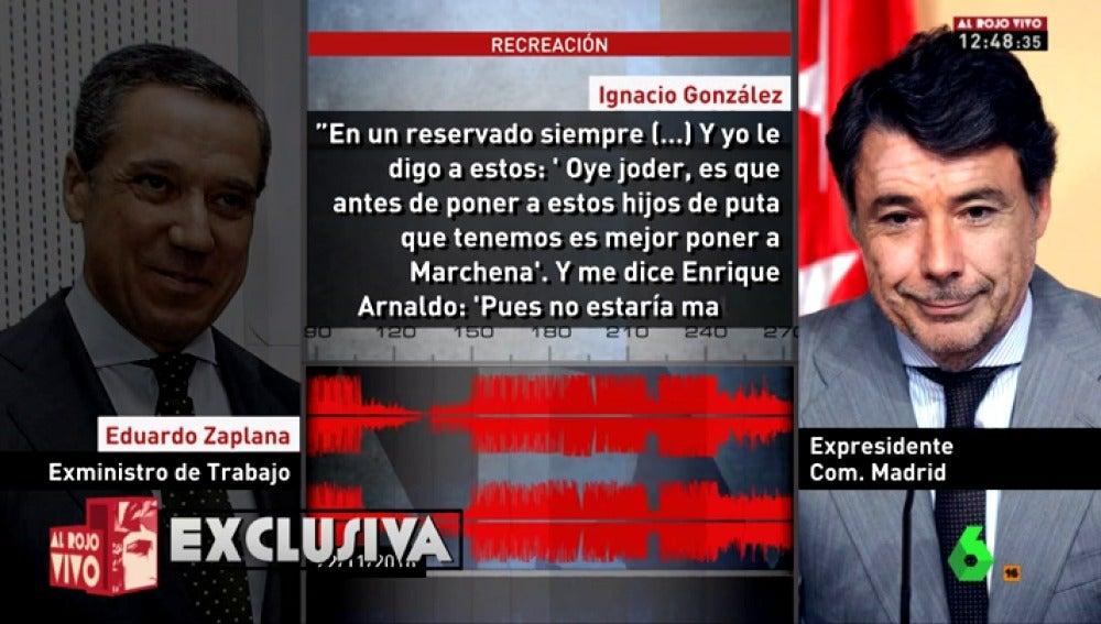 Conversación de Ignacio González y Eduardo Zaplana