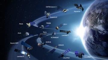 Mapa de satélites para el cambio climático de la NASA