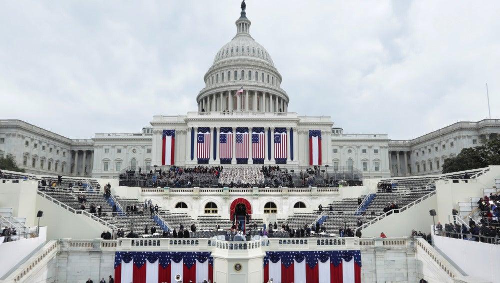 El Capitolio de los Estados Unidos el día en el que Donald Trump jura como presidente de Estados Unidos