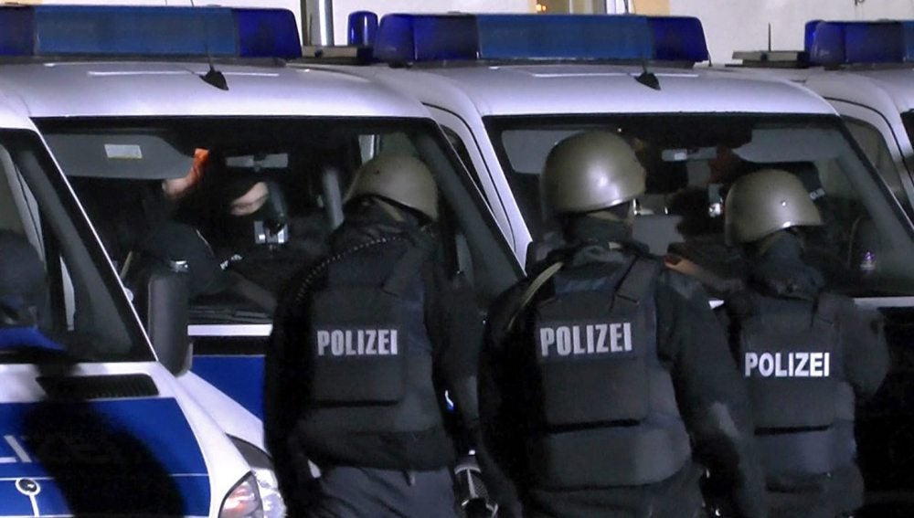 Imagen de archivo de agentes de la policía alemana