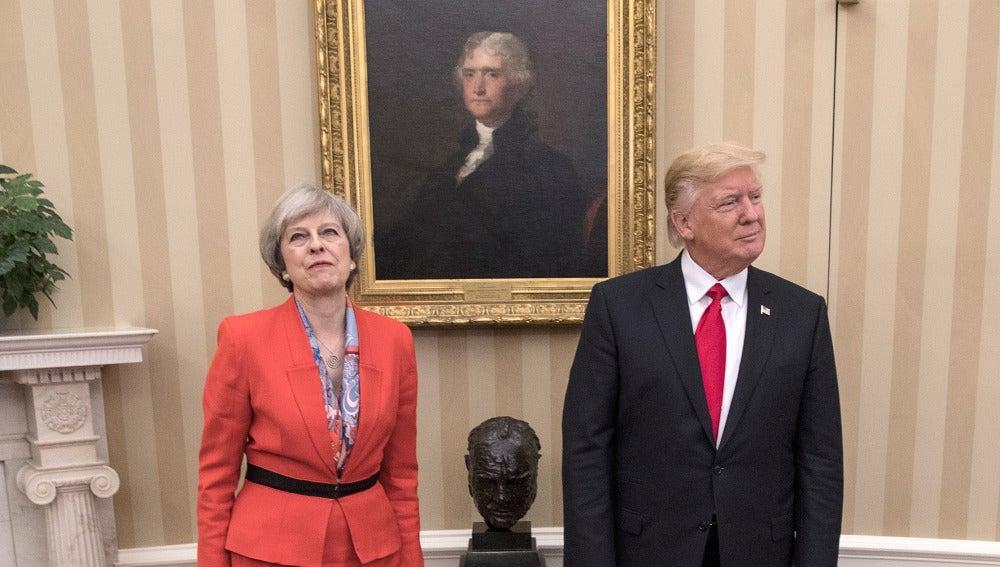 Theresa May visita la Casa Blanca