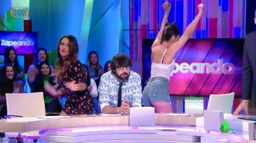 Lorena Castell y Cristina Pedroche bailan a Quique Peinado
