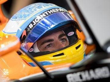 Fernando Alonso durante los entrenamientos libres