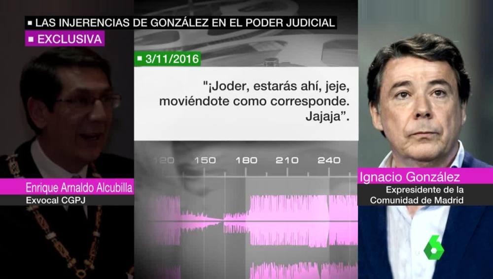 Escuchas a Ignacio González