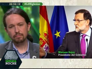 Pablo Iglesias responde a Mariano Rajoy