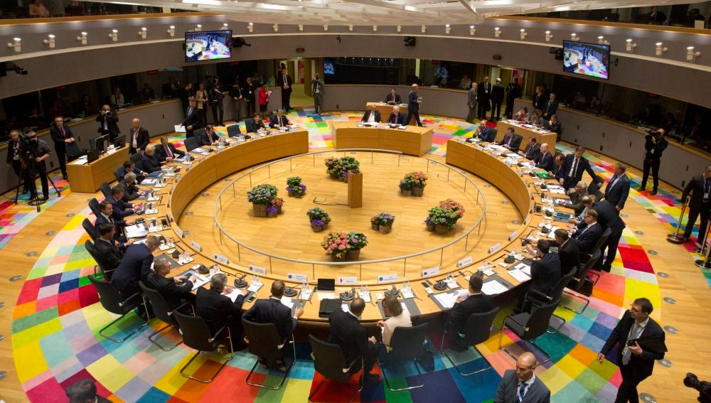 Vista general del comienzo de la reunión del Consejo Europeo en Bruselas
