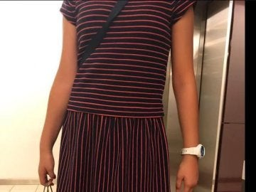 El vestido que llevaba la niña en el torneo