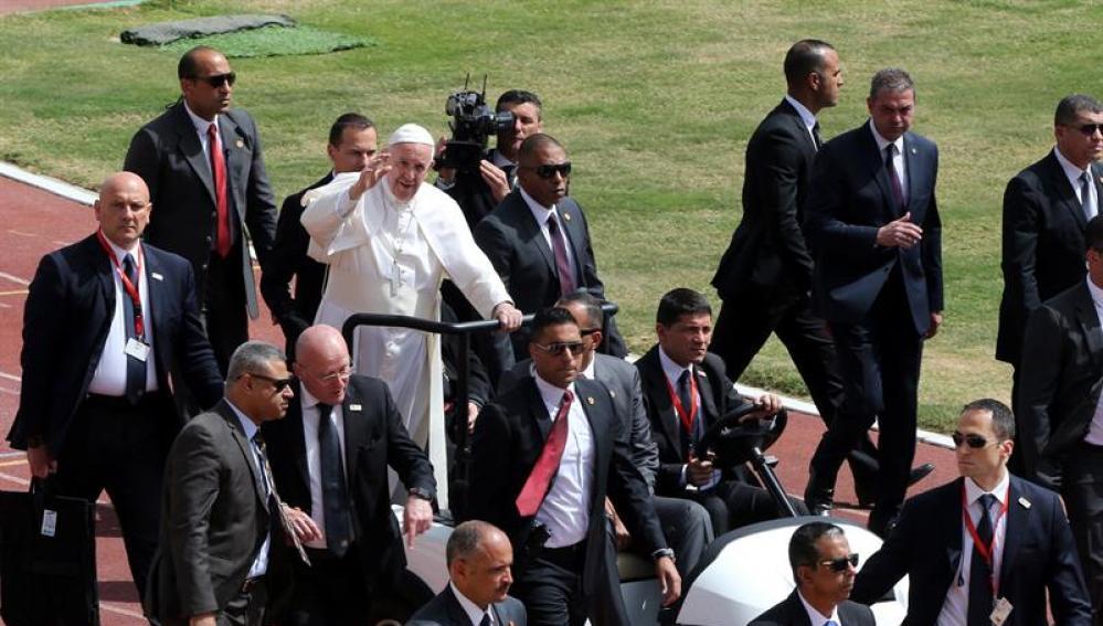 El papa Francisco, durante su visita a Egipto