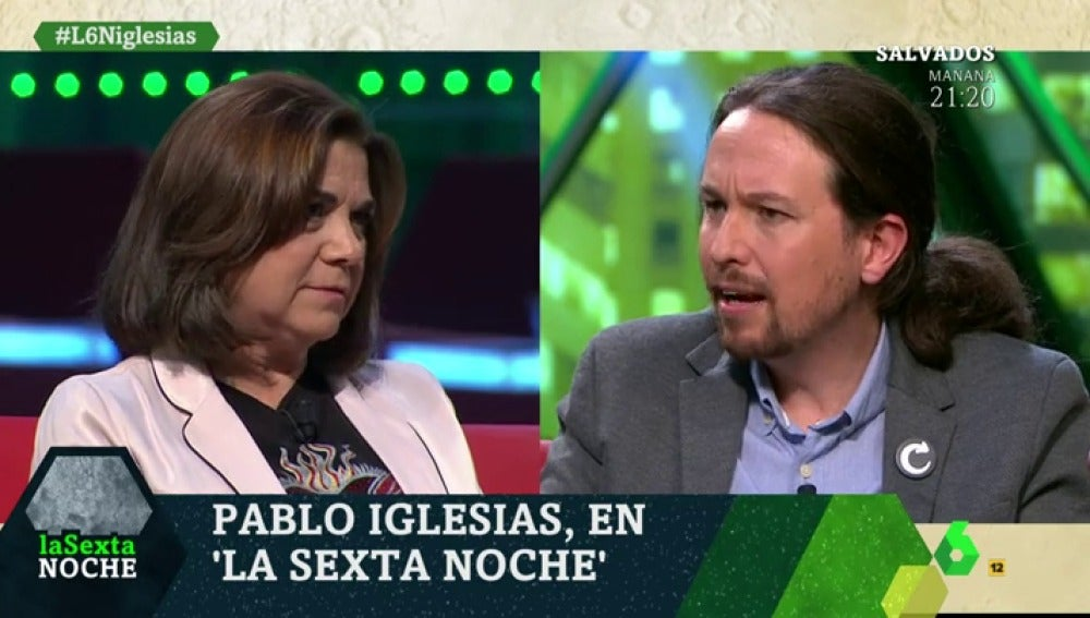 Lucía Méndez y Pablo Iglesias