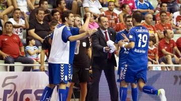 Los jugadores de Inter Movistar celebran su triunfo