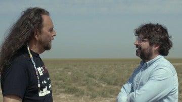 Plácido Rodríguez con Jordi Évole