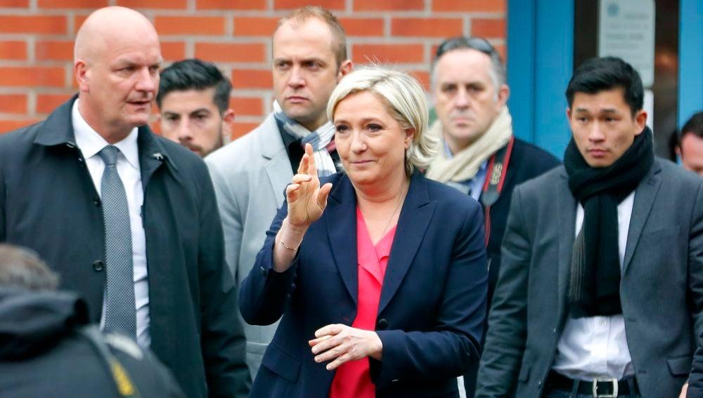 La candidata ultraderechista Marine Le Pen