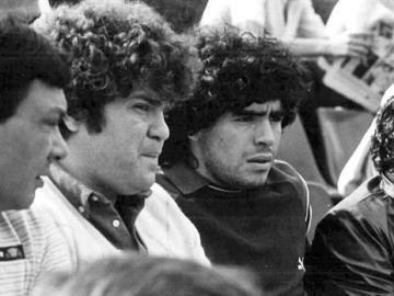 Jorge Cyterszpiler, junto a Maradona